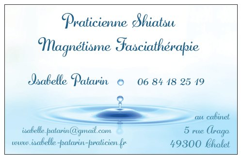 Praticienne Bien être Fasciathérapie Magnétisme SHIATSU - Cholet (49)