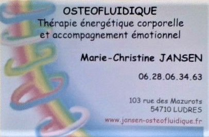 Thérapeute énergétique/Ostéofluidique en Lorraine près de NANCY