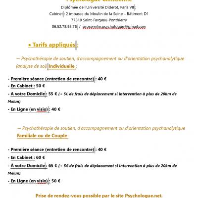 Psychologue/Psychothérapeute en cabinet à Saint-Fargeau-Ponthierry (77) et à domicile près de Melun