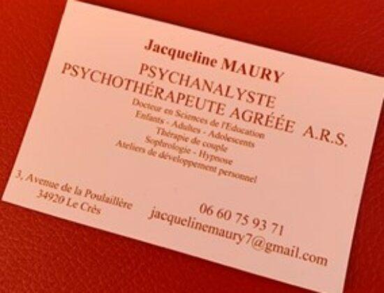 PSYCHOTHERAPEUTE PSYCHANALYSTE – Le Crès
