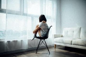 Femme dans une situations de dépression